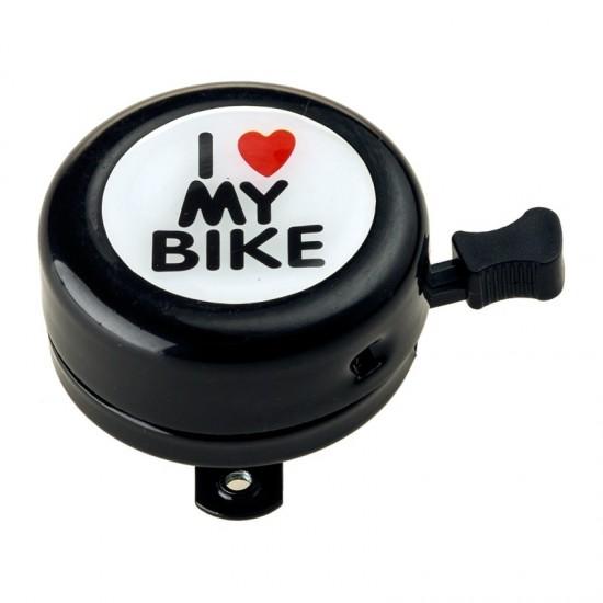 Звънец RideFit I Love My Bike Alu Black Аксесоари