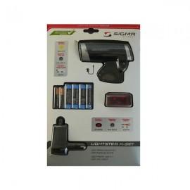 Фар Sigma Sport Lightster + стоп Cuberider II + батерии + адаптер Аксесоари