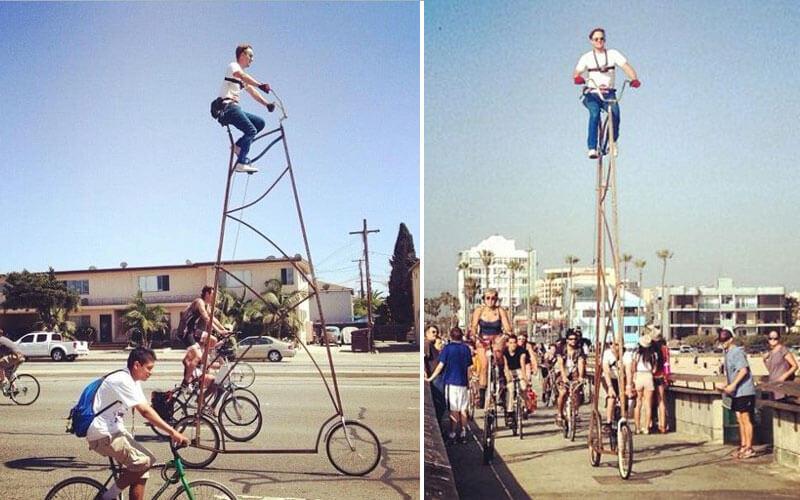 Най-високият велосипед в света
